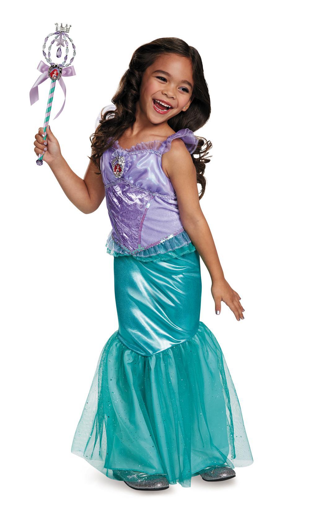 Costume fille Ariel de luxe moyen 7-8