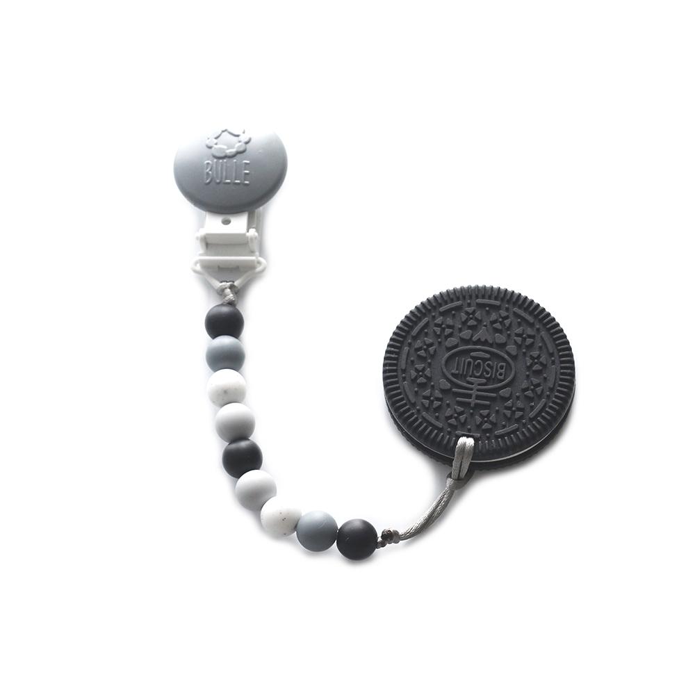 Bulle bijouterie Ensemble jouet de dentition biscuit noir avec attache-suce