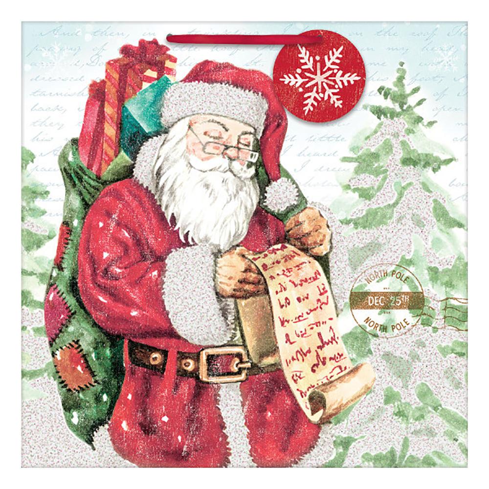 Sac cadeau de Noël - Village du Père Noël