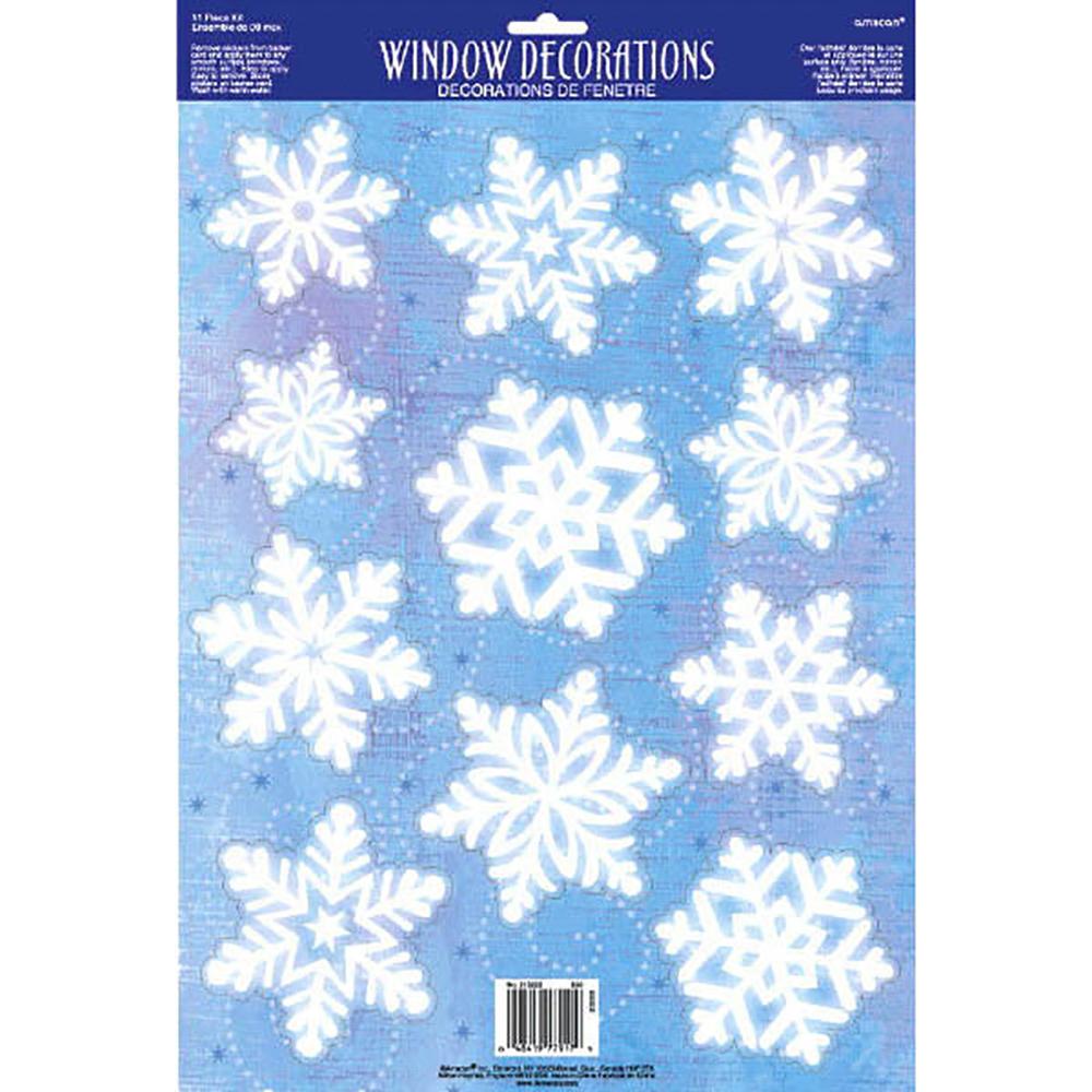 Décoration de fenêtre - Flocons de neige