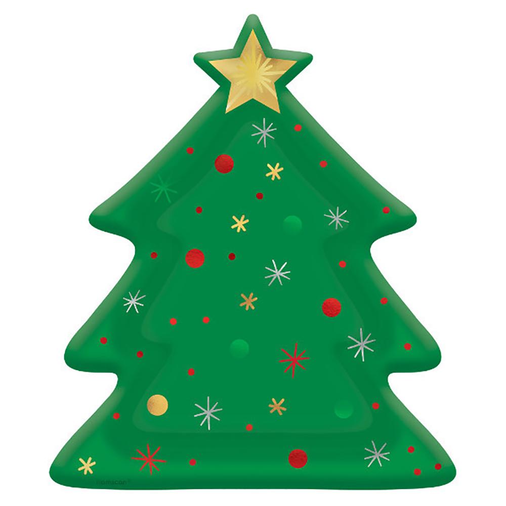 Assiettes arbre de Noël 10 1 2