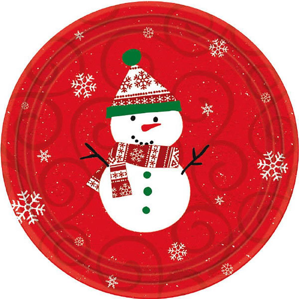 Assiettes 7 - Bonhomme de neige