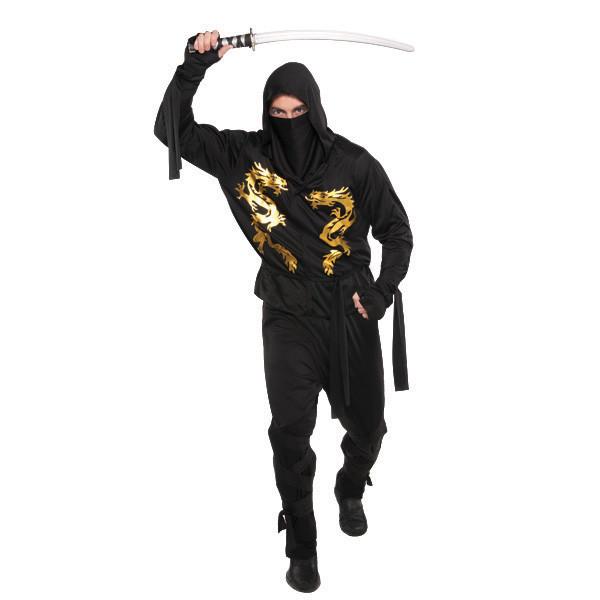 Costume adulte - Ninja Dragon Noir (Taille unique)