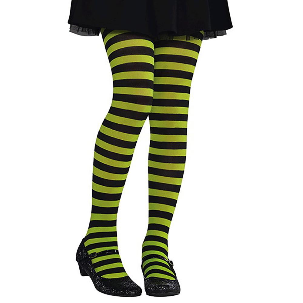 Enfant - Collant Vert Noir Lignée (moyen grand)