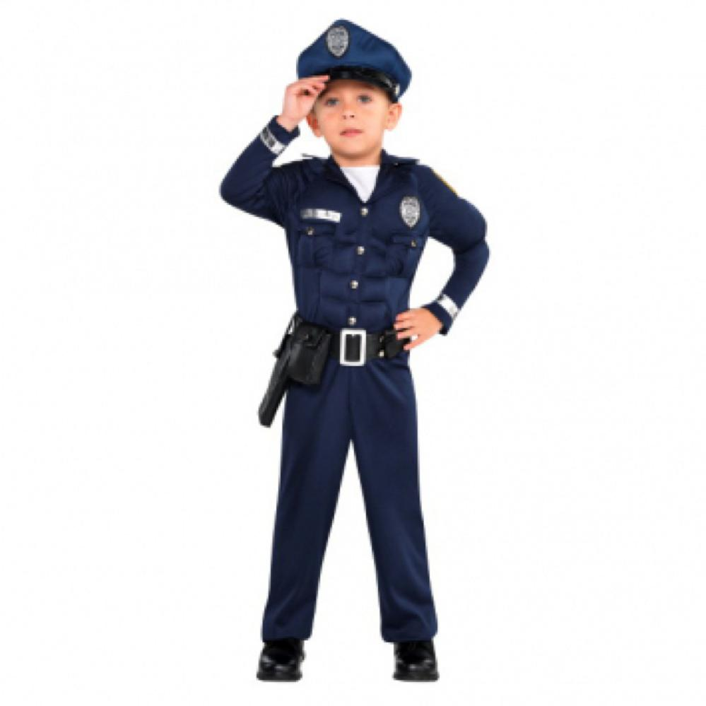 Costume Muscle Cop - 3-4 ans