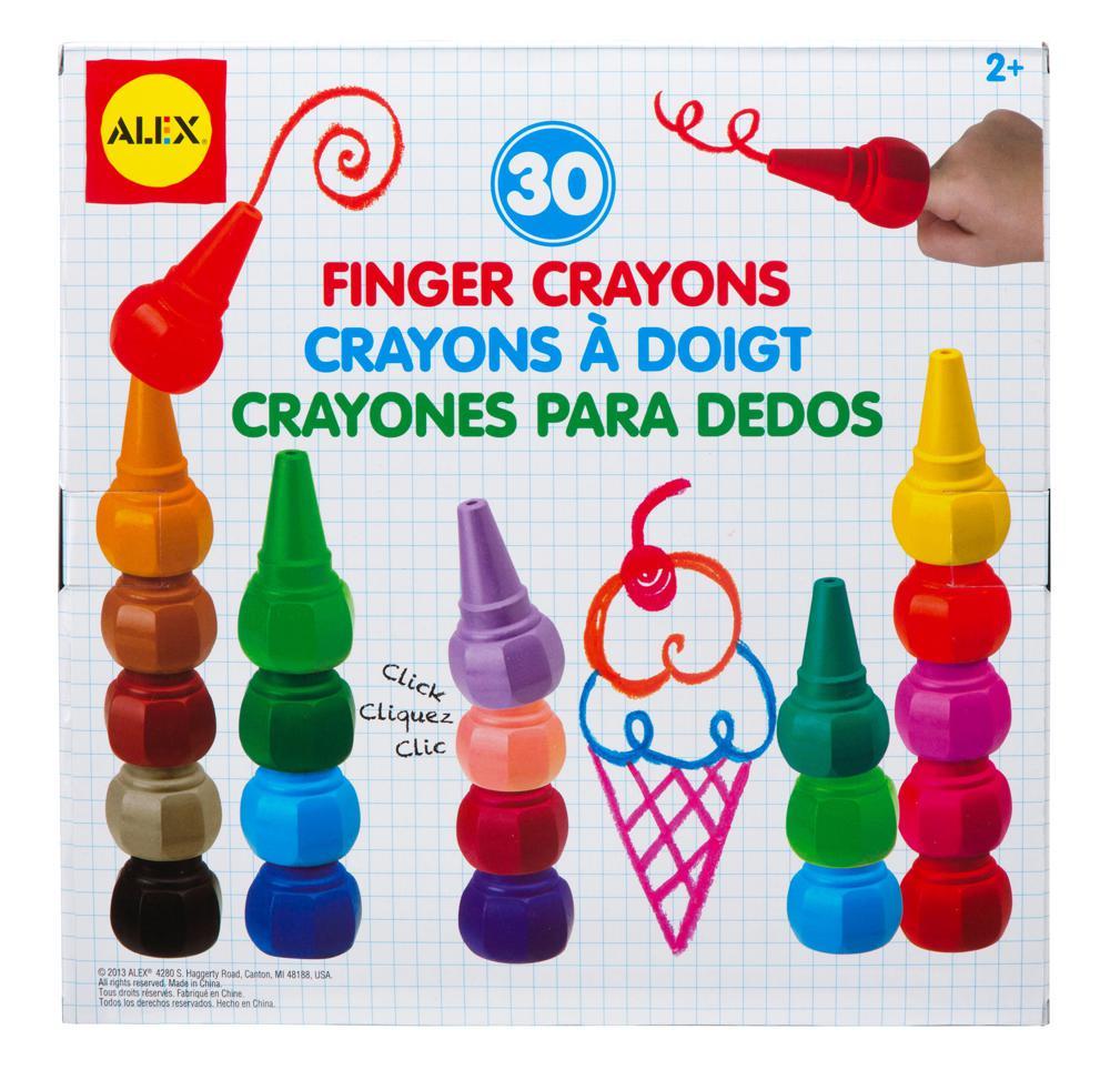 30 crayons à doigts