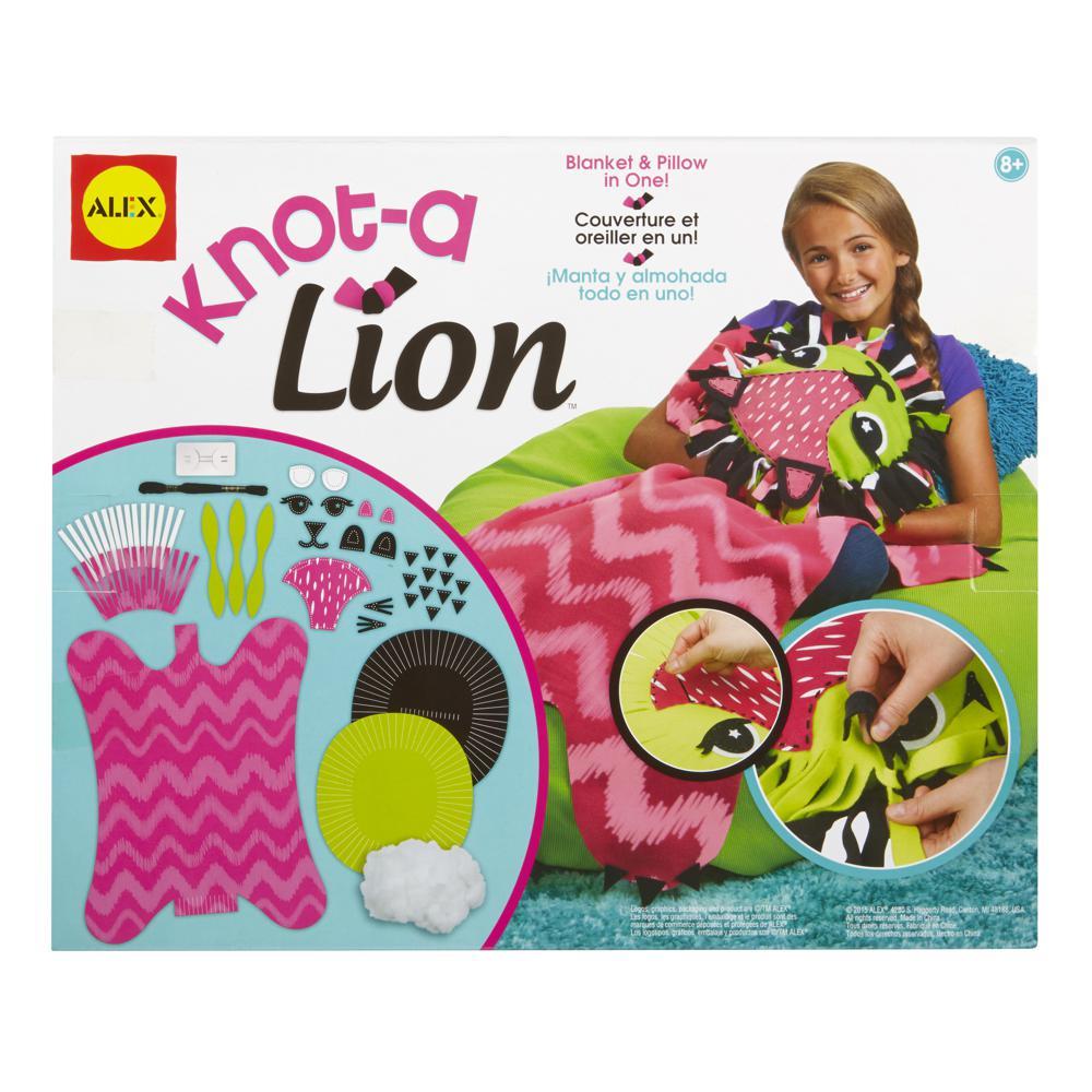 Couverture lion à nouer