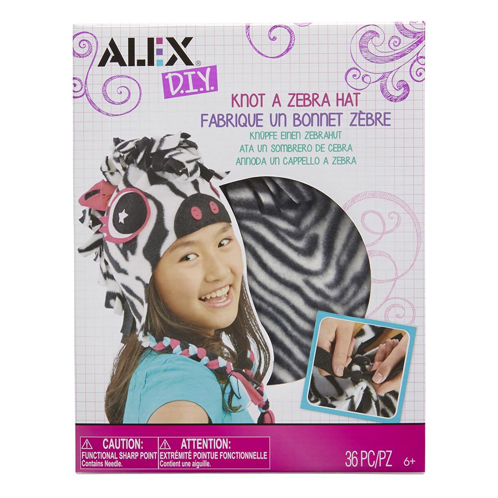 Alex - DIY Fabrique un bonnet zèbre