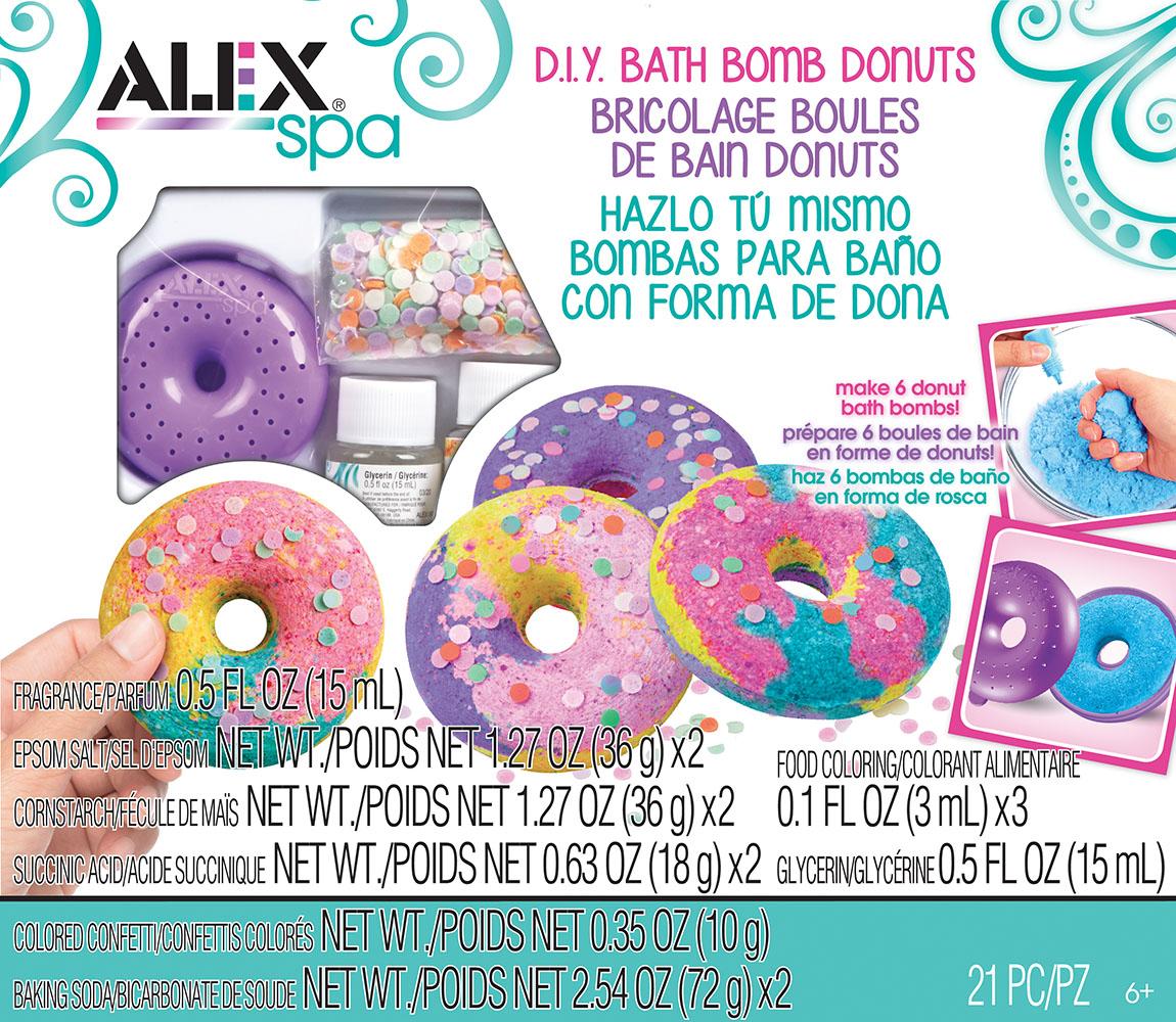 Alex - Spa DIY Fabrique de boules de bain beignets