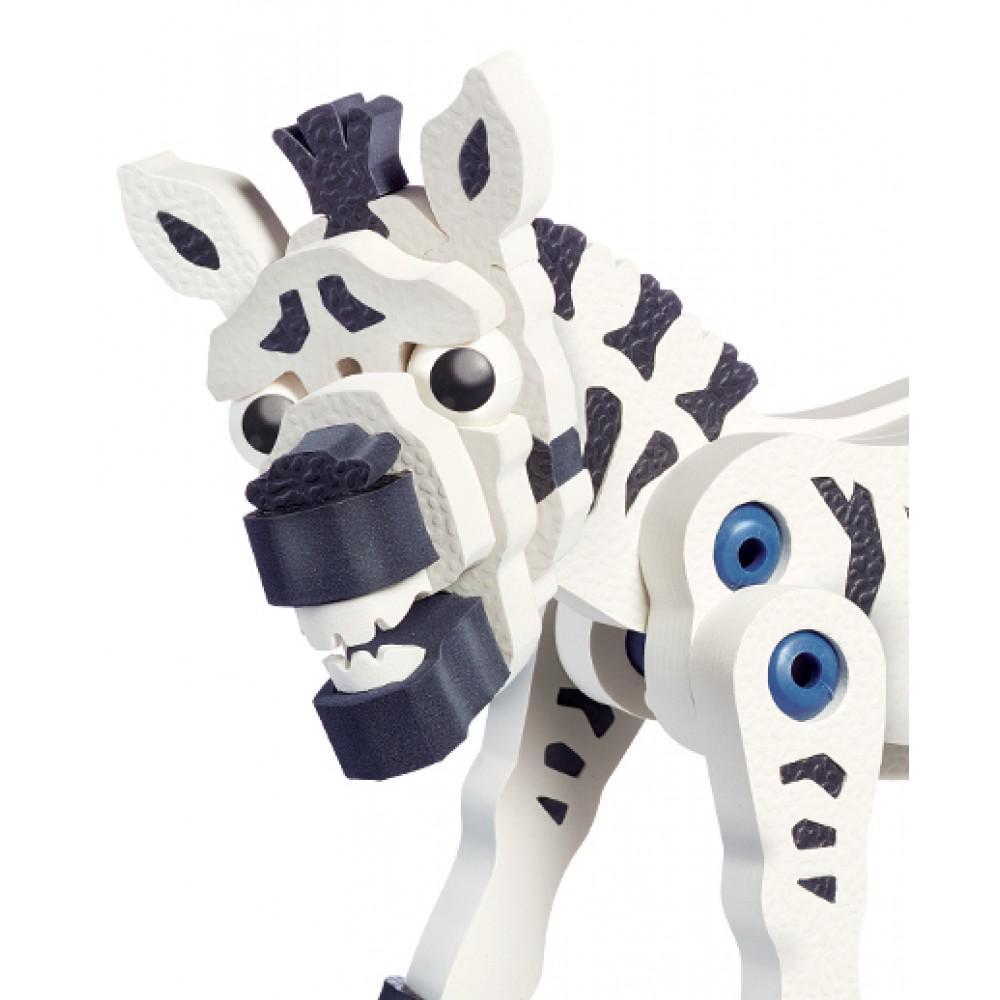 Bloco Animalia Le zèbre, la girafe et l'éléphant 200 pièces