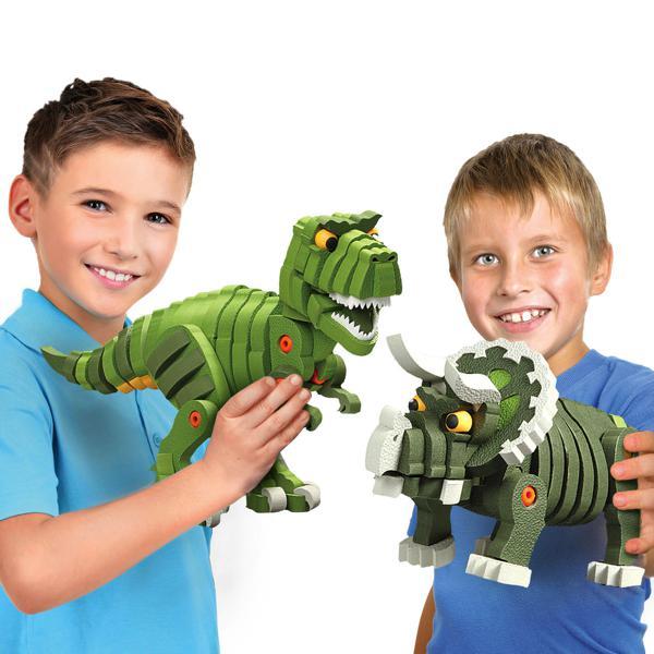 T-rex & triceratops 200 pièces