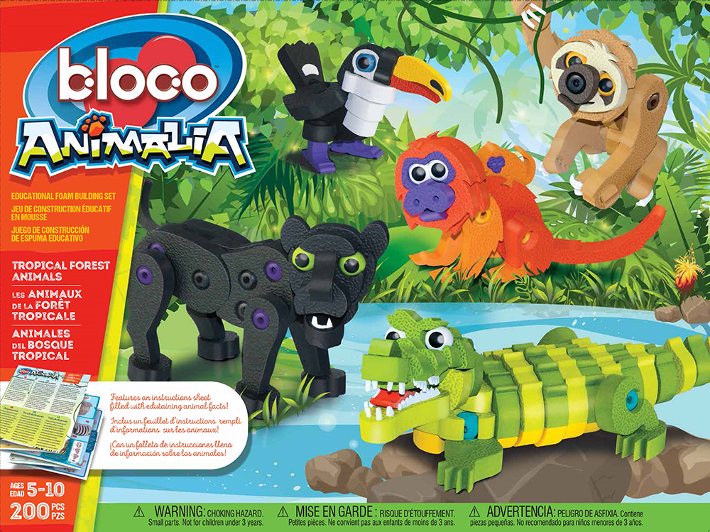 Les animaux de la forêt tropicale 200 pièces