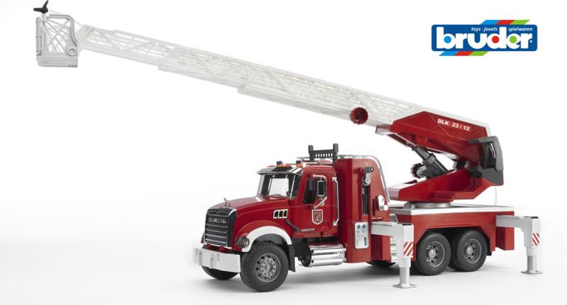 Bruder - MACK Camion de pompier & Boyau arrosage