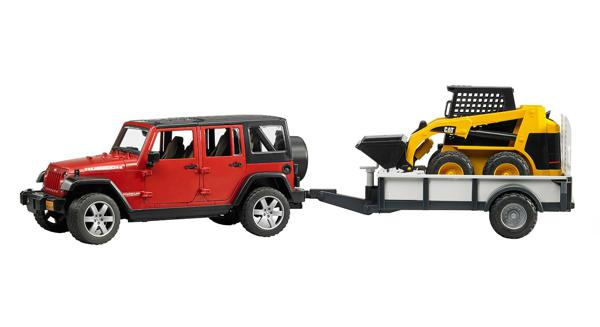 Bruder - Jeep Wrangler & CAT Chargeuse