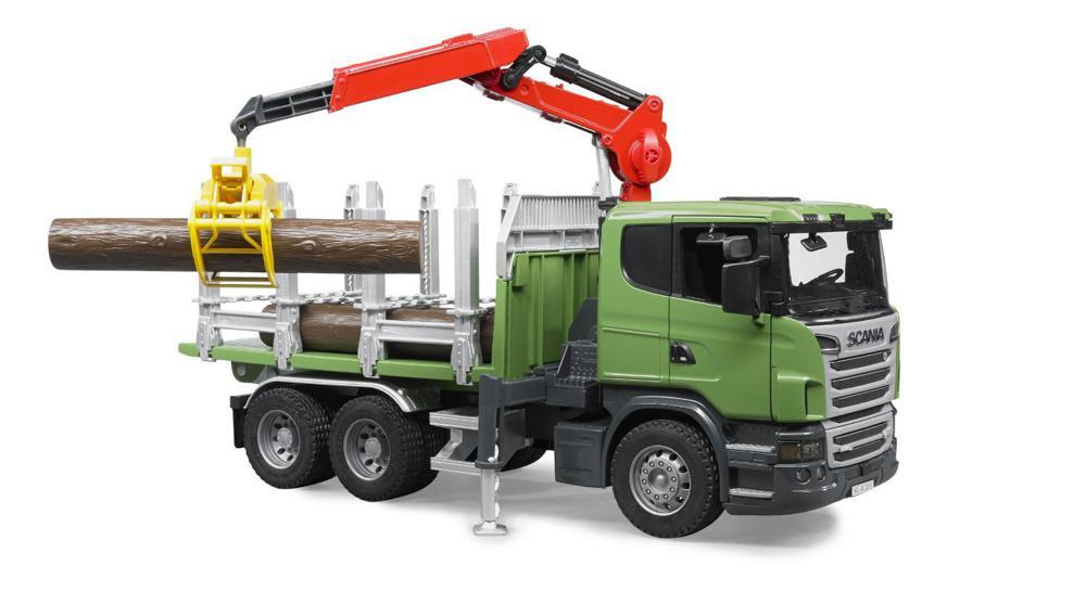 bruder camion transport de bois scania avec grue club jouet achat de jeux et jouets prix club. Black Bedroom Furniture Sets. Home Design Ideas