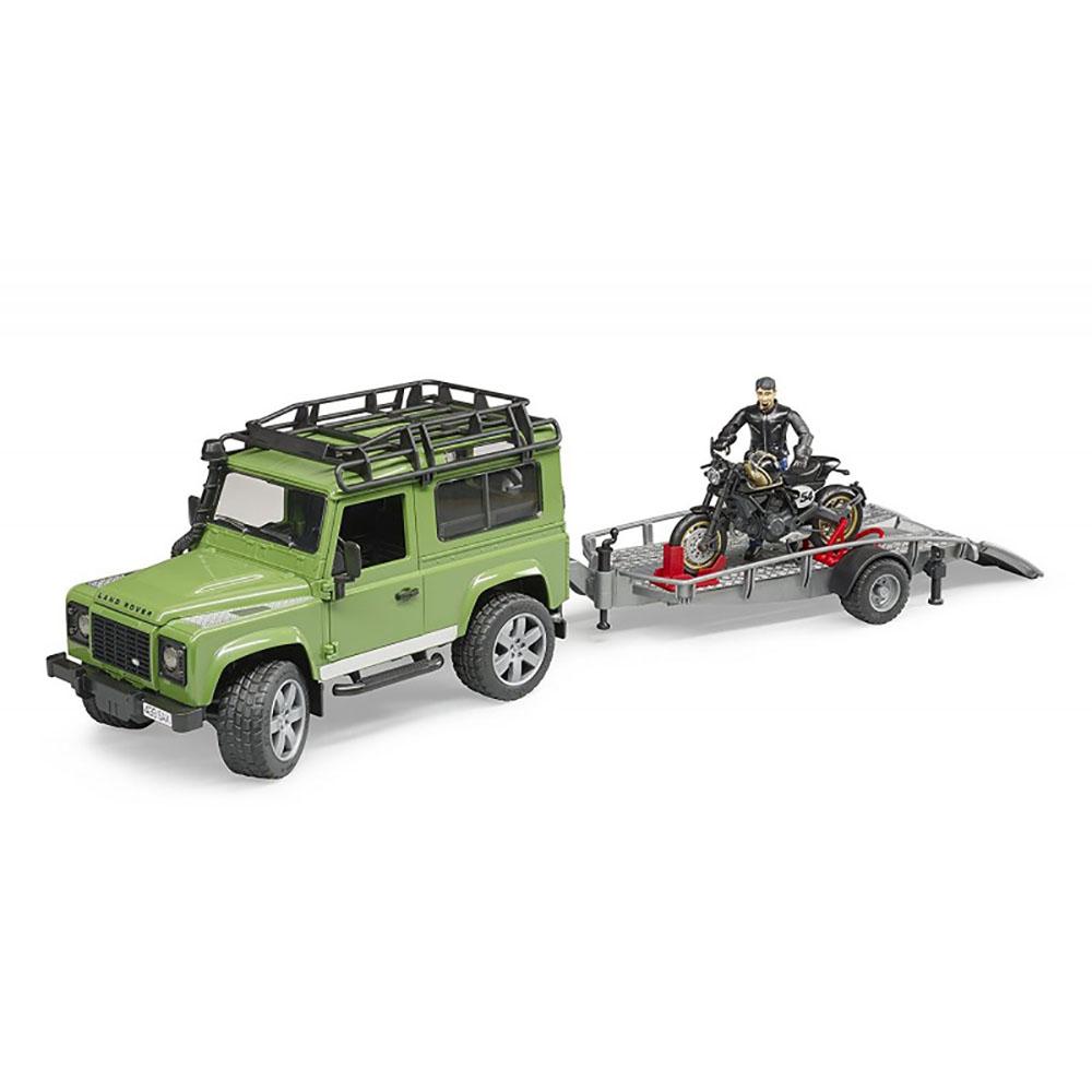 Bruder - Land Rover & Moto