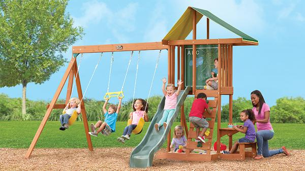 Big backyard portique de jeu kingswood club jouet achat for Module de jeu exterieur