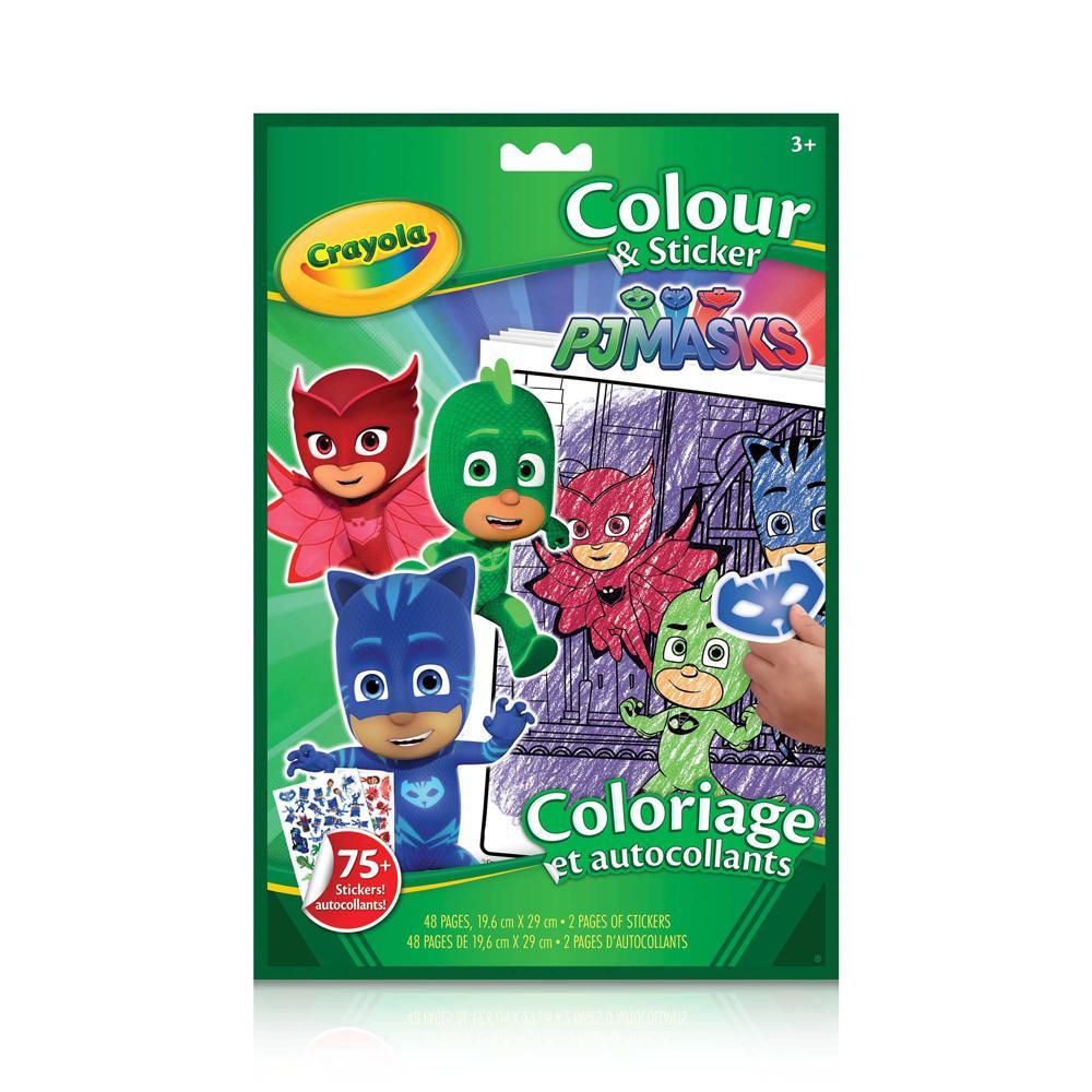 coloriage et autocollants pj masks club jouet achat de jeux et jouets prix club. Black Bedroom Furniture Sets. Home Design Ideas