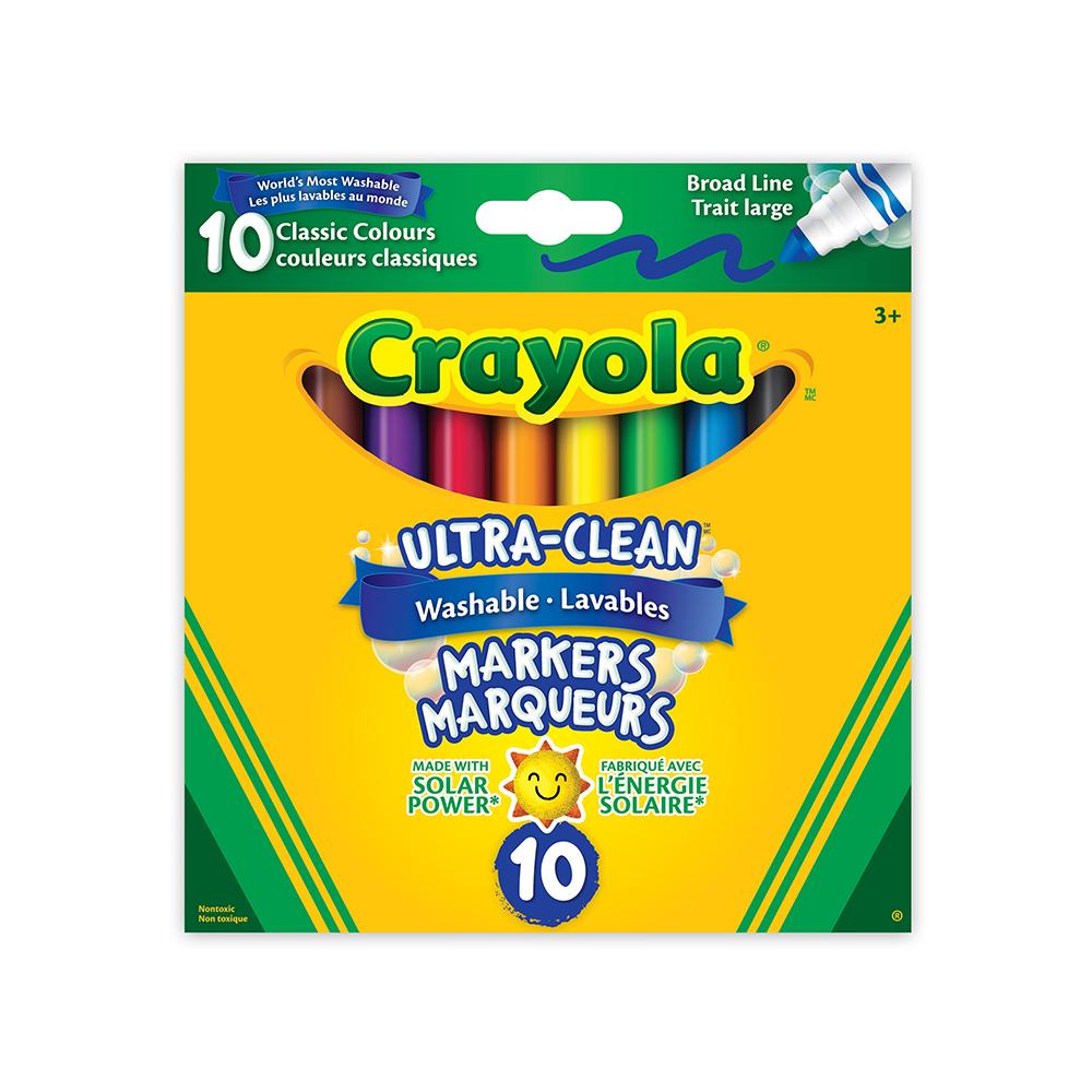 Crayola - 10 Marqueurs ultra lavables