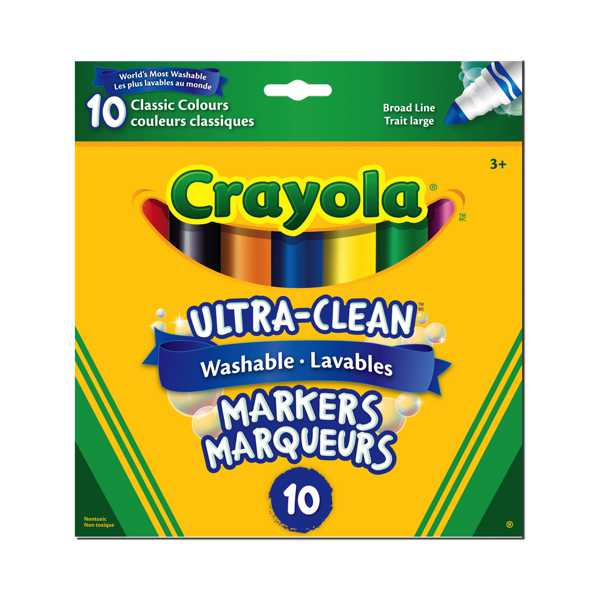 Crayola - 10 Marqueurs ultra lavables