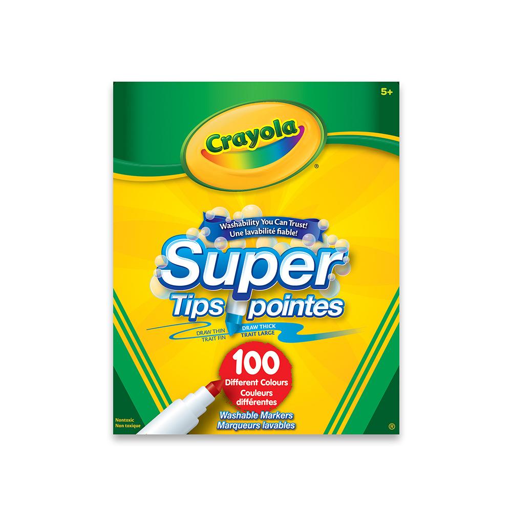 Crayola - 100 crayons super pointes