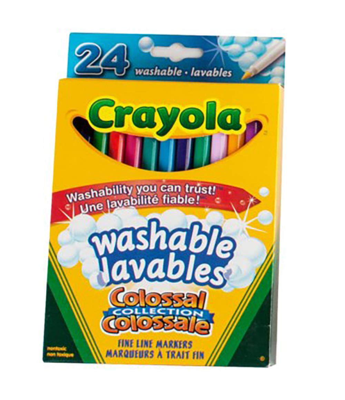 Crayola - 24 marqueurs minces colossale