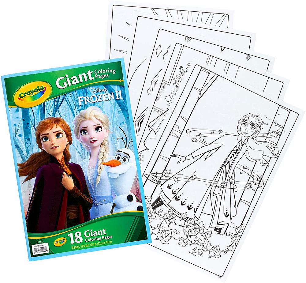 Pages géantes à colorier - La Reine des neiges 2