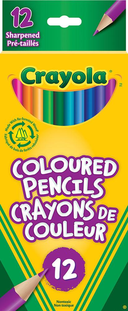 Crayola - 12 crayons de couleur