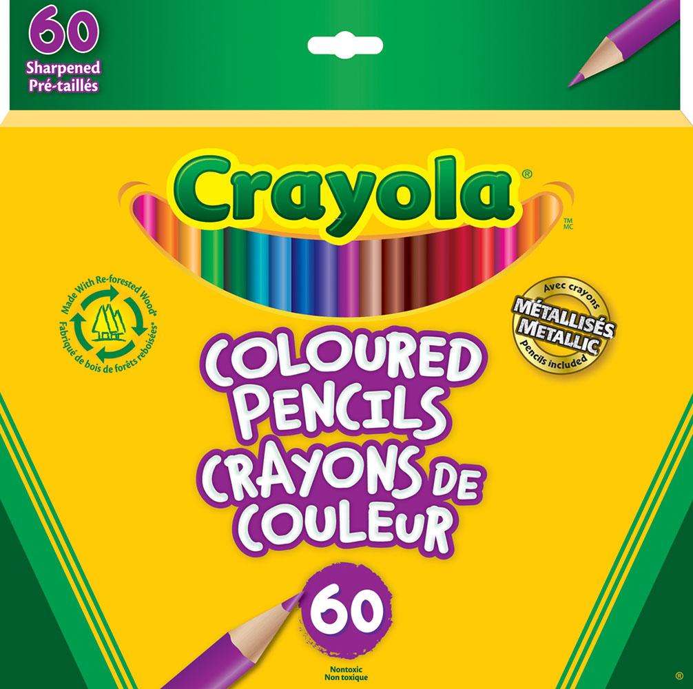 Crayola - 60 crayons de couleur