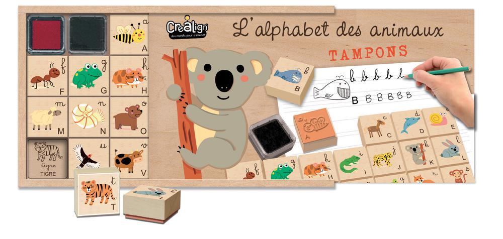 Crealign - Coffret l'alphabet des animaux