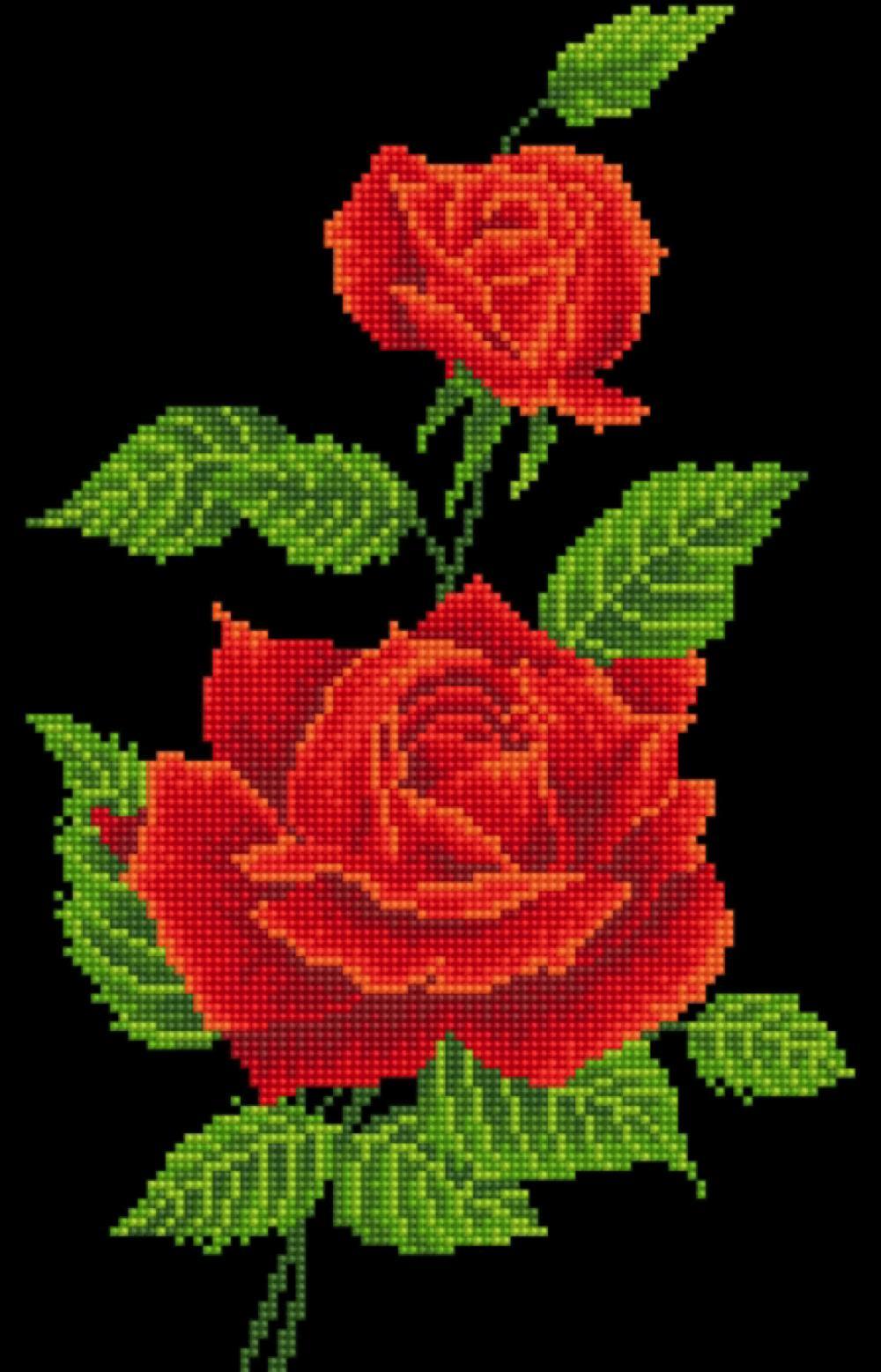 Diamond Dotz - Red Rose Corsage