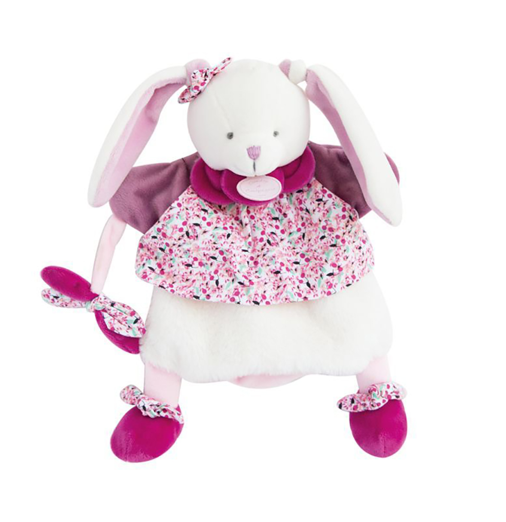 Marionnette Poésie-Lapin Cerise 28 cm