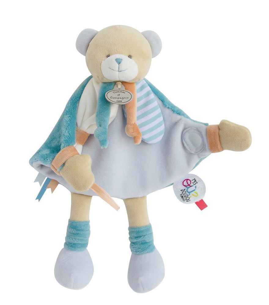 Doudou Tatoo-Ours bleu