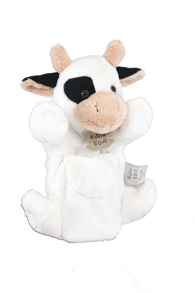 Marionnette classique - Vache Blanche 25 cm