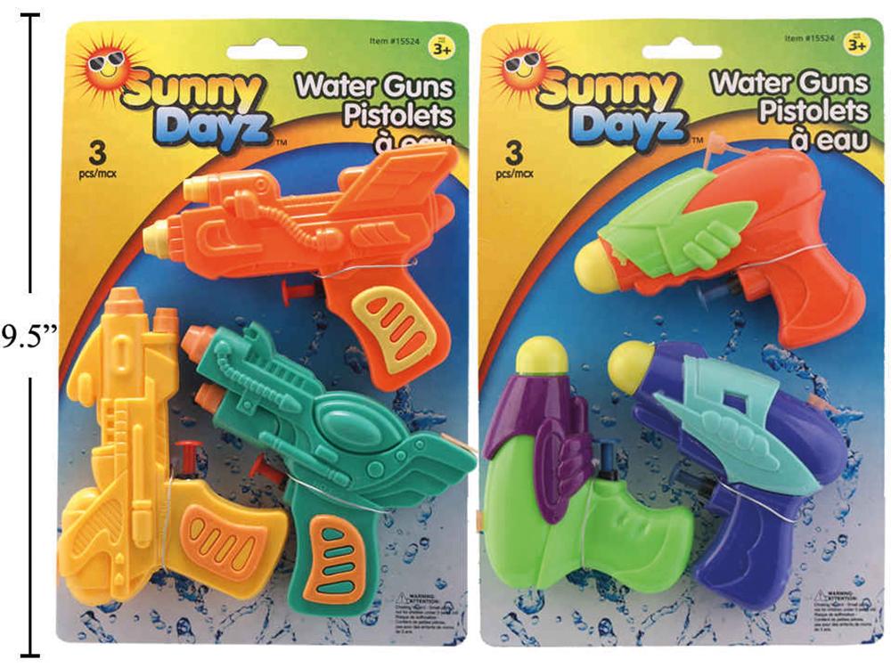 Fusils à l'eau pqt. de 3, 2 S
