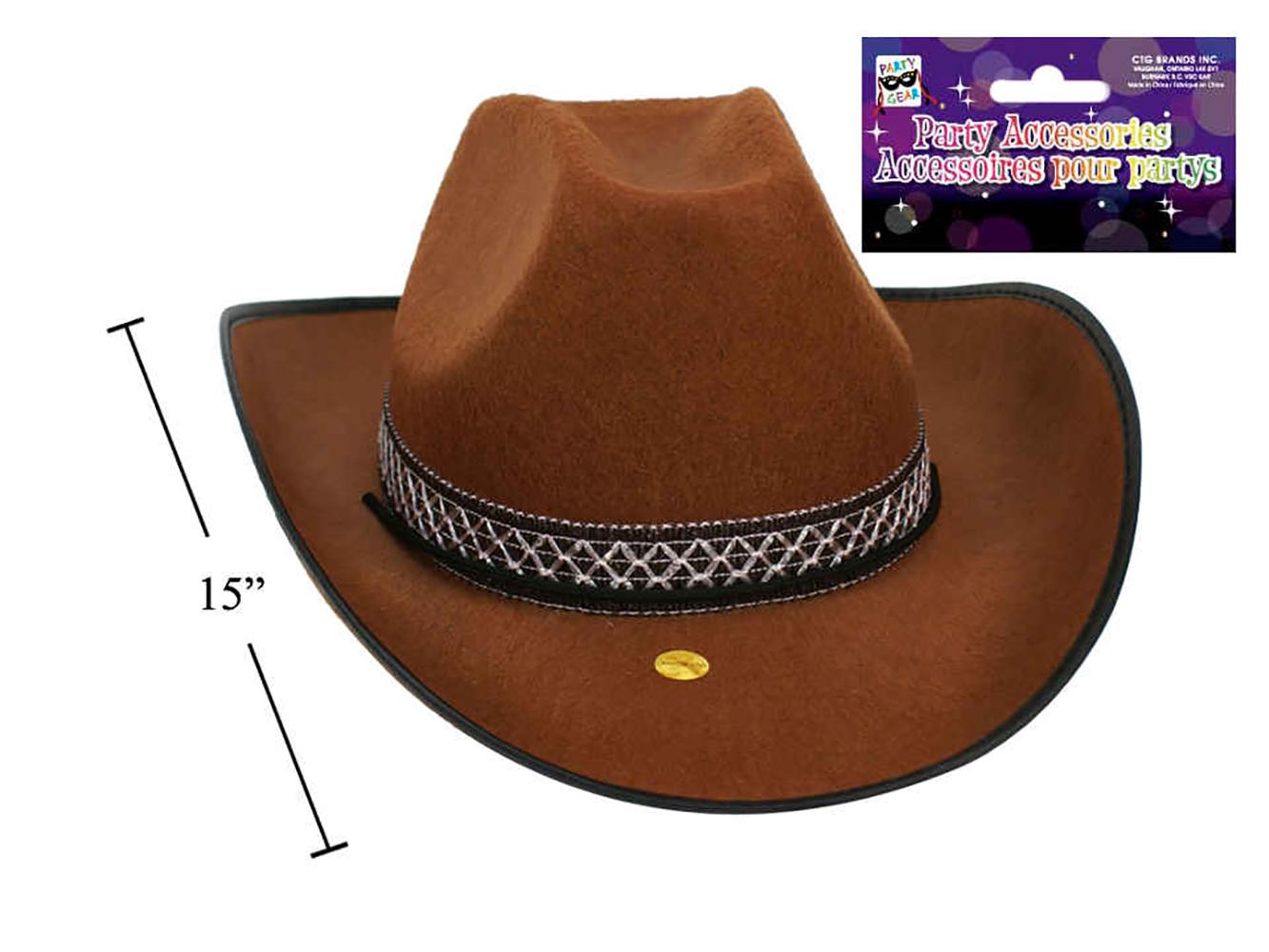 bonne qualité meilleure qualité pour classique Chapeau de cowboy brun pour déguisement