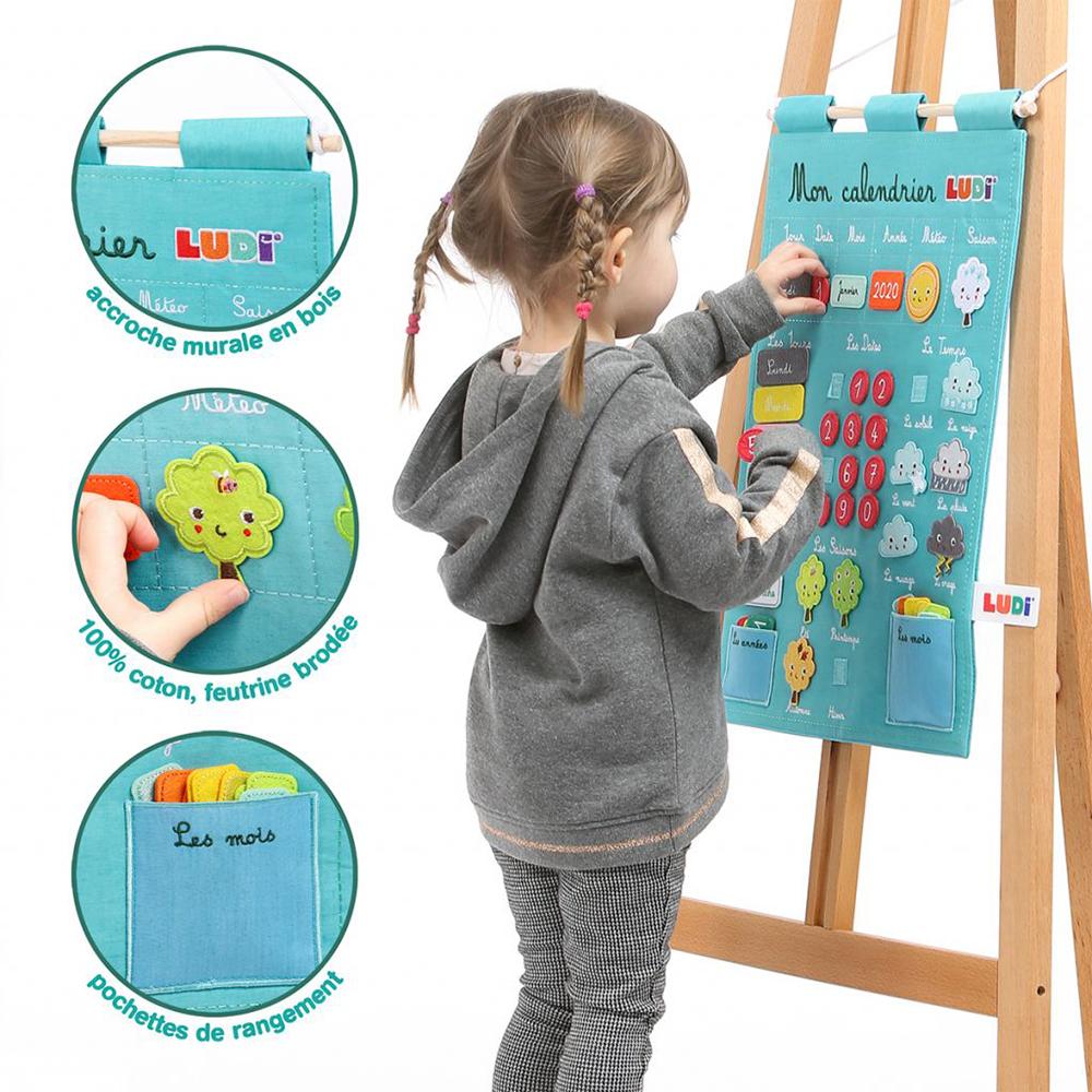 LUDI - Calendrier d'apprentissage bleu Version française