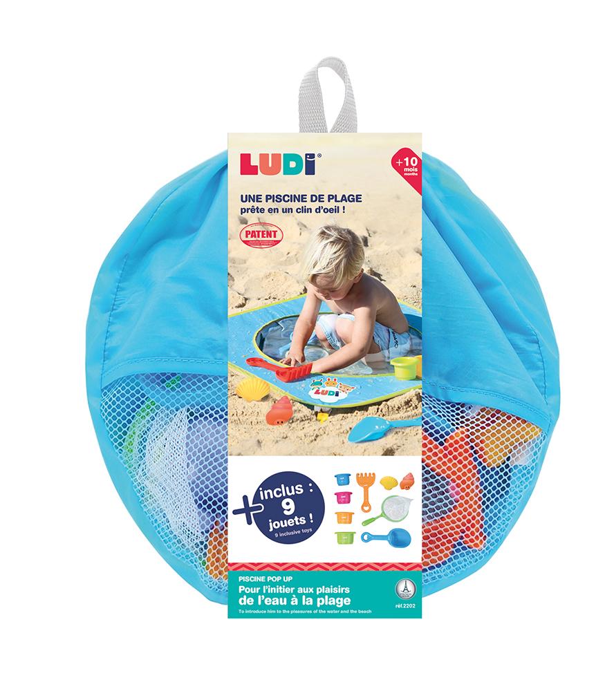 LUDI - Piscine Pop-up avec 9 accessoires