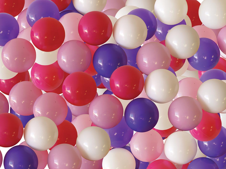 LUDI-Balles de jeu 75 pièces Roses