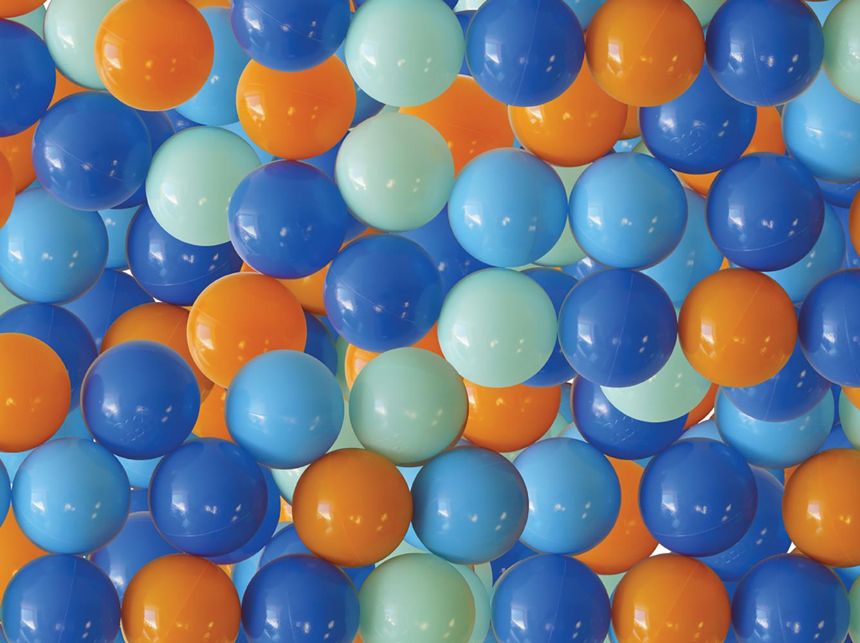 LUDI-Balles de jeu 75 pièces -Bleues