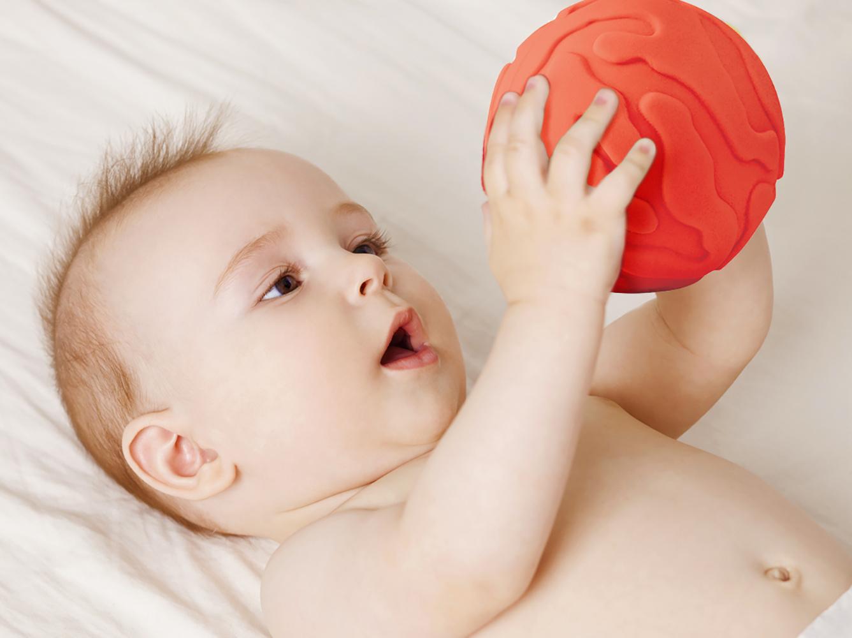 LUDI - 3 Balles sensorielles Lapin