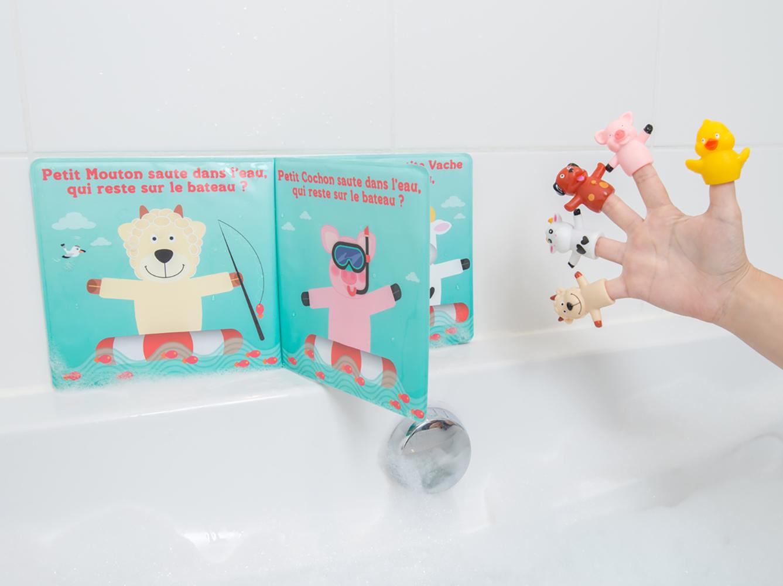 LUDI - Livre de bain avec 5 marionnettes Version française