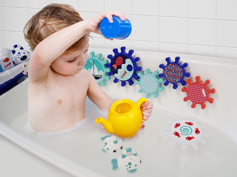 LUDI - Jeu d'engrenages de bain