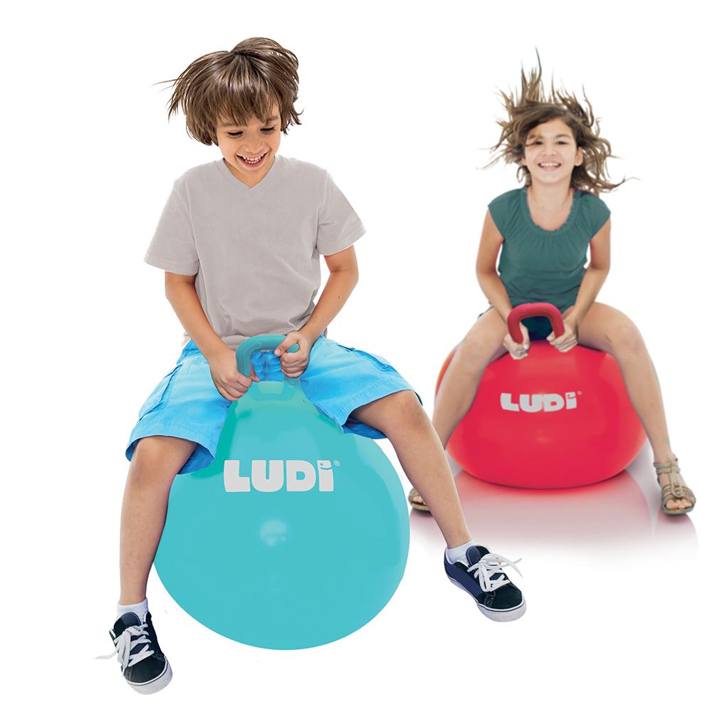 LUDI - Ballon sauteur XXL 55 cm bleu