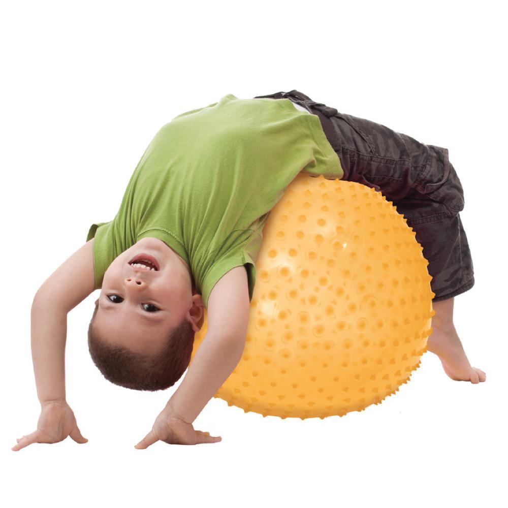 LUDI - Ballon de motricité XXL jaune 45 cm