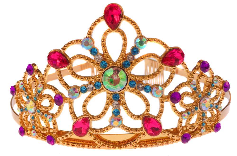 Couronne dorée avec bijoux
