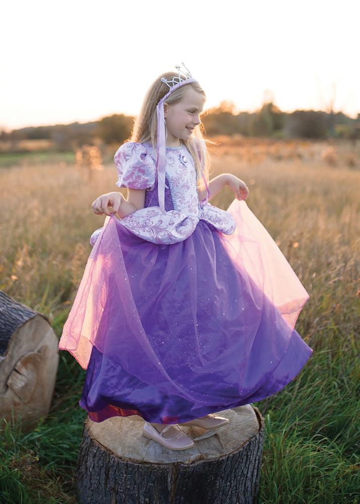Robe princesse royale lilas 7-8