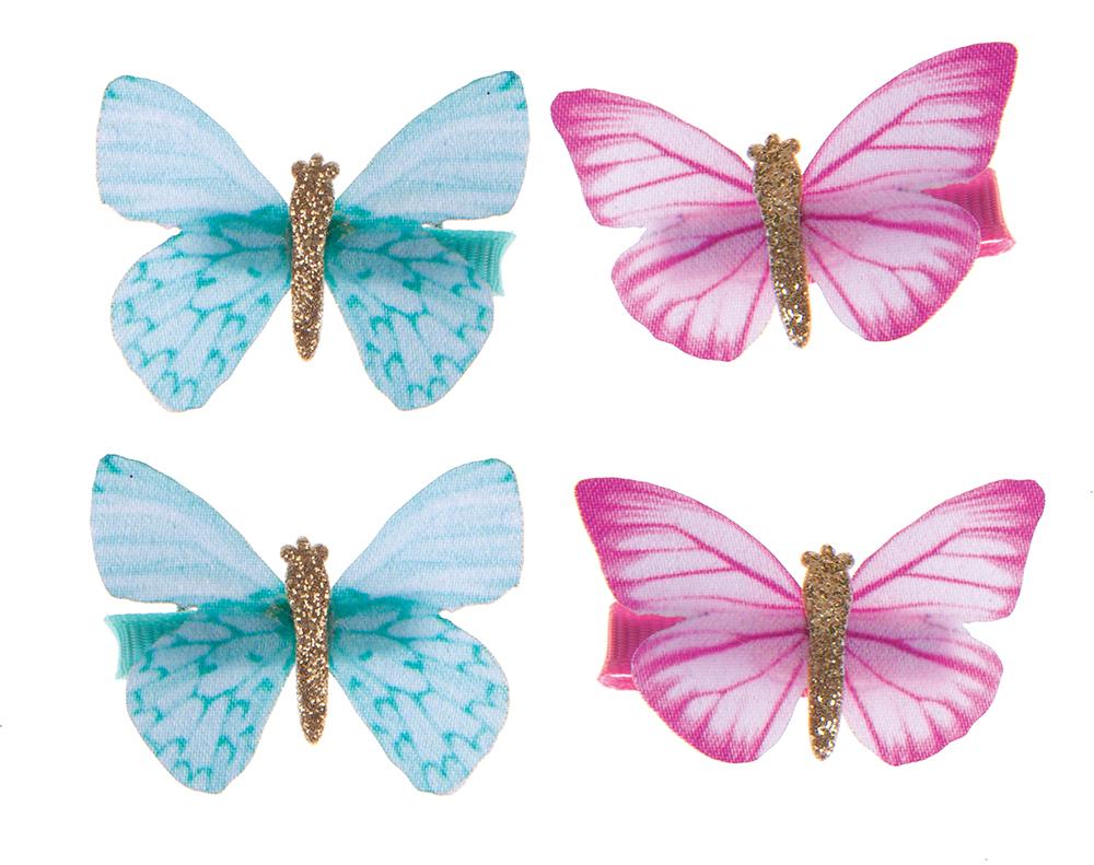 Barrettes - Ensemble de papillons