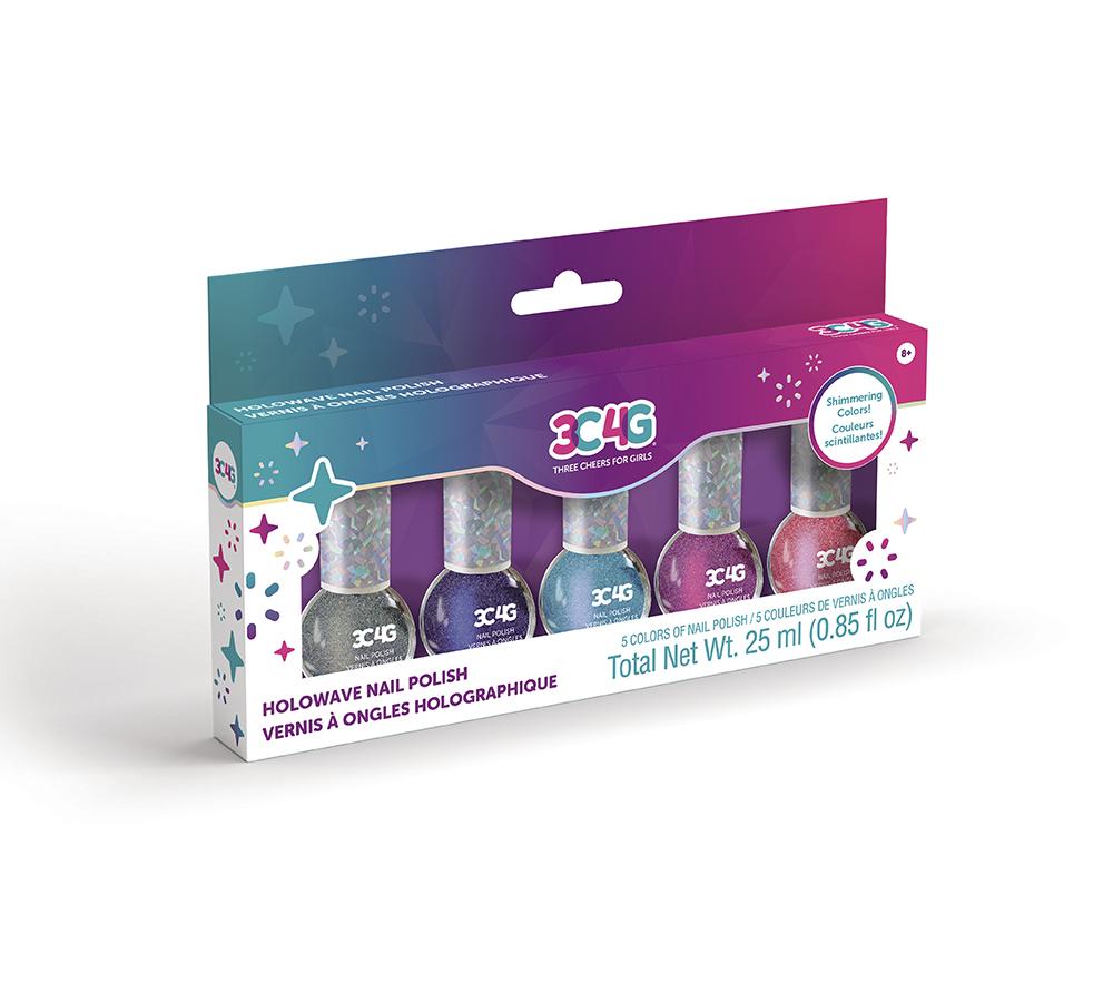 3C4G - Pochette vernis à ongles 5 couleurs