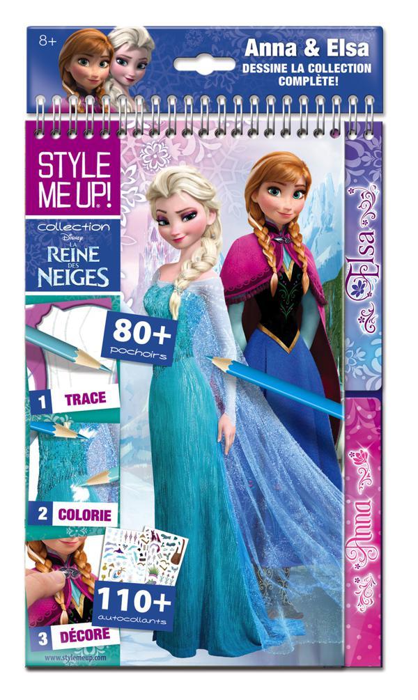 Style Me Up Carnet De Mode Frozen Bricolage Hobby Et Artisanat